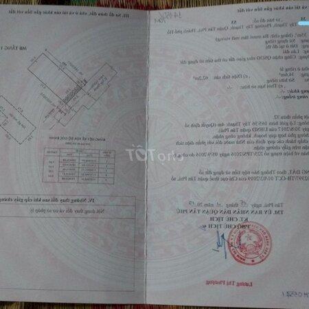 Đi Định Cư Bán Nhà Chính Chủ Tây Thạnh, Tân Phú- Ảnh 1