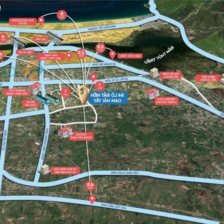Bán đất 2 mặt tiền ở Cam Hải Tây, giá từ 8,6 triệu/m2, sổ đỏ lâu dài- Ảnh 2