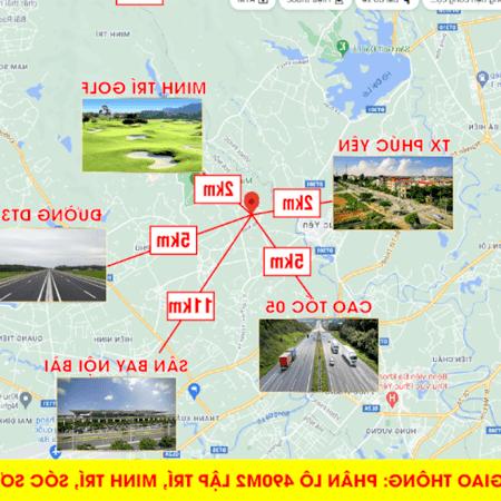 Bán lô góc 83m trục chính đường 6m giá chỉ 578tr Lập Trí,Minh Trí,Sóc Sơn.- Ảnh 2